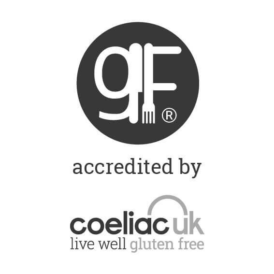 Accredited by Coeliac UK